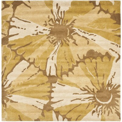 Woodburn Brown/Ivory Area Rug Rug Size: Square 6'