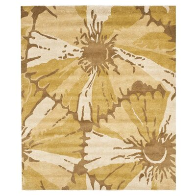 Woodburn Brown/Ivory Area Rug Rug Size: 7'6