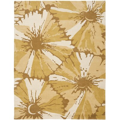 Woodburn Gold/Ivory Area Rug Rug Size: Rectangle 76 x 96