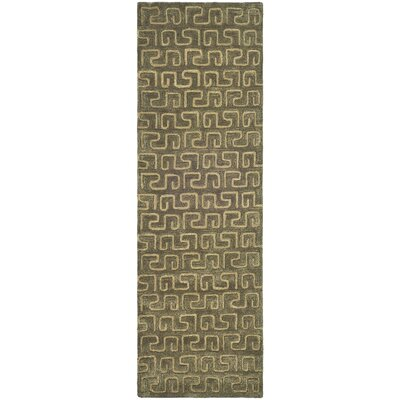Woodburn Brown/Gold Area Rug Rug Size: Runner 26 x 12