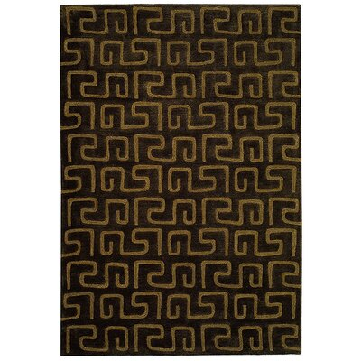 Woodburn Brown/Gold Area Rug Rug Size: 36 x 56