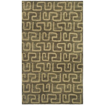 Woodburn Brown/Gold Area Rug Rug Size: Rectangle 36 x 56