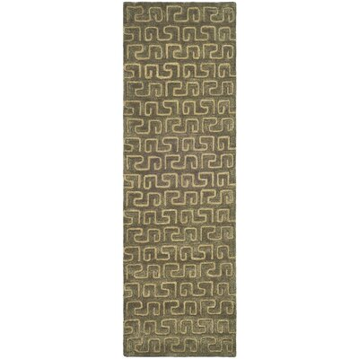 Woodburn Brown/Gold Area Rug Rug Size: Runner 26 x 8