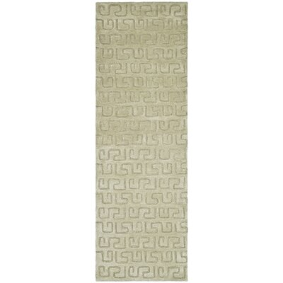 Woodburn Light Green Area Rug Rug Size: Runner 26 x 12