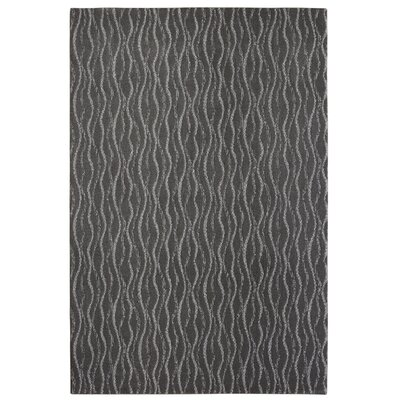 Bettie Hand-Tufted Charcoal Area Rug Rug Size: 6 x 9