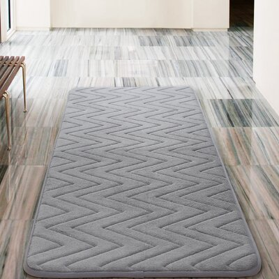 Heather Bath Rug Color: Gray