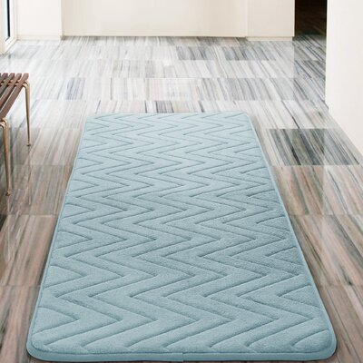 Heather Bath Rug Color: Spa Blue