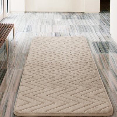 Heather Bath Rug Color: Taupe