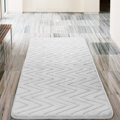 Heather Bath Rug Color: White
