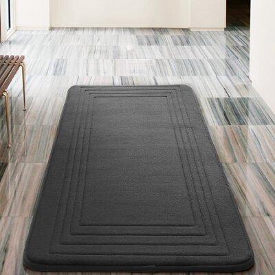 Mellie Bath Rug Color: Black