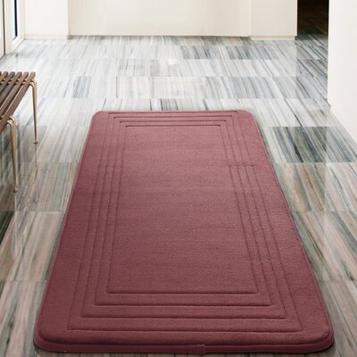 Mellie Bath Rug Color: Burgundy