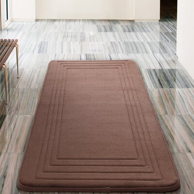 Mellie Bath Rug Color: Chocolate