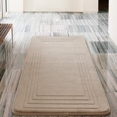 Mellie Bath Rug Color: Taupe