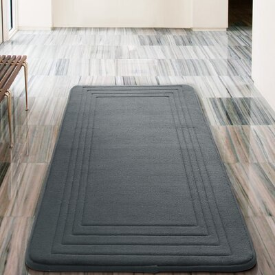 Mellie Bath Rug Color: Charcoal