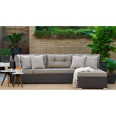 Hovland Modular Sectional with Cushion Fabric: Brown