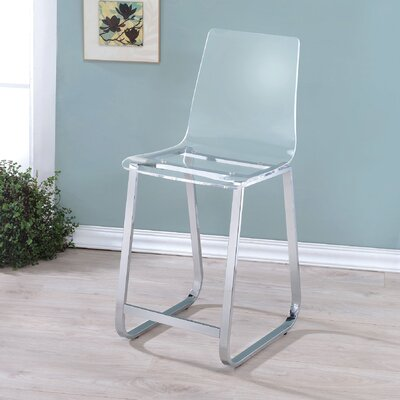 Spinelli 23.75 Bar Stool Upholstery: Clear