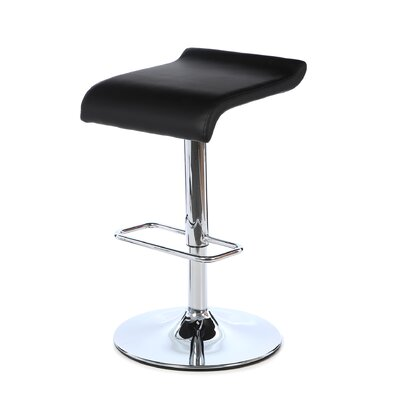 Idina Adjustable Height Bar Stool Seat Finish: Black
