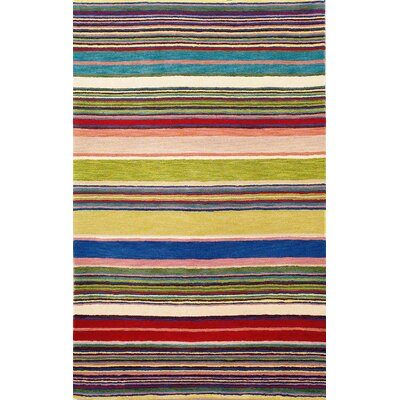 Varley Yellow Stripes Area Rug Rug Size: 5 x 8