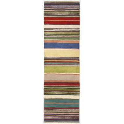 Varley Yellow Stripes Area Rug Rug Size: Runner 23 x 8