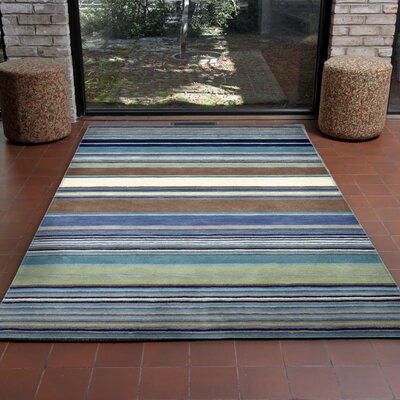 Varley Hand-Tufted Blue Area Rug Rug Size: 5 x 8