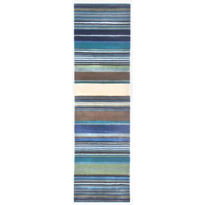 Varley Hand-Tufted Blue Area Rug Rug Size: Runner 23 x 8