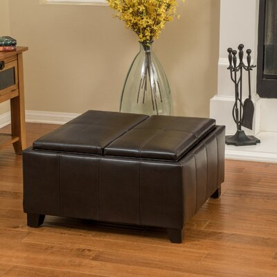 Brooke Leather Ottoman Upholstery: Brown