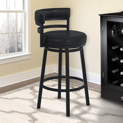 Glouscester 30 Swivel Bar Stool Finish: Black