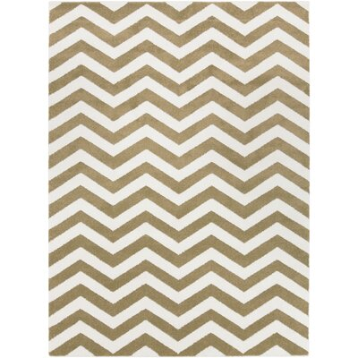 Greer Ivory Chevron Area Rug Rug Size: Rectangle 9'3