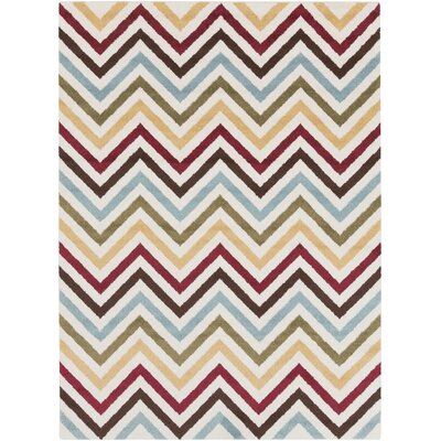 Greer Gold Chevron Area Rug Rug Size: Rectangle 93 x 126