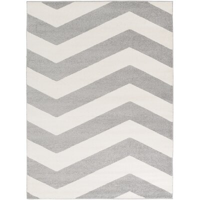 Greer Ivory/Gray Area Rug Rug Size: 2 x 3