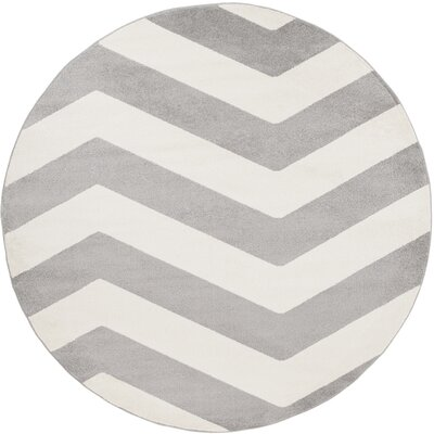Greer Ivory/Gray Area Rug Rug Size: Rectangle 93 x 126