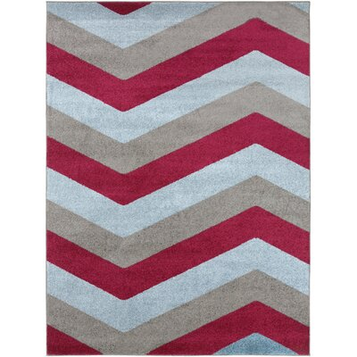 Greer Cherry Chevron Area Rug Rug Size: Rectangle 93 x 126