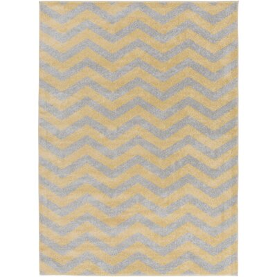 Greer Gold Chevron Area Rug Rug Size: Rectangle 9'3