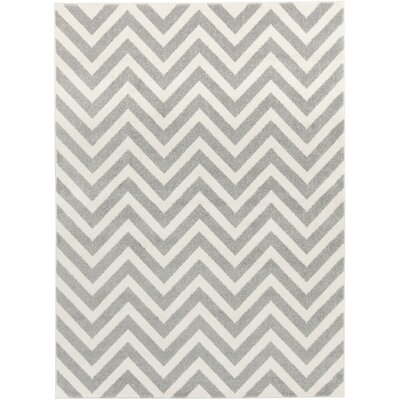 Greer Ivory/Gray Area Rug Rug Size: Rectangle 7'10