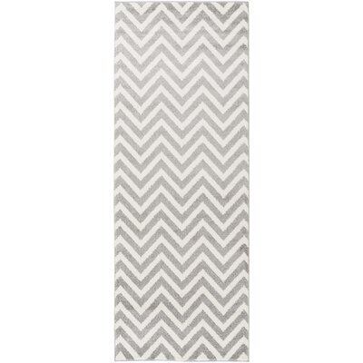 Greer Ivory/Gray Area Rug Rug Size: 710 x 103