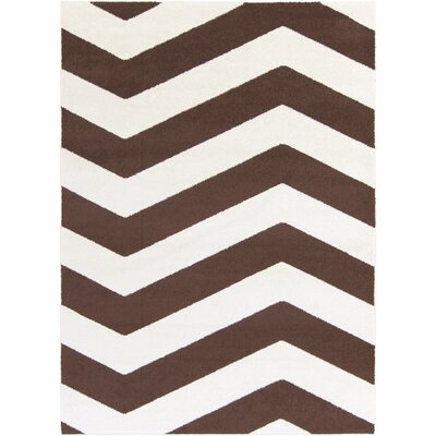 Greer Ivory/Chocolate Area Rug Rug Size: Rectangle 93 x 126
