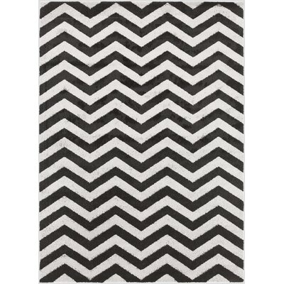 Greer Charcoal/Black Area Rug Rug Size: 93 x 126