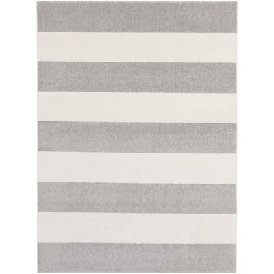 Greer Gray/Ivory Area Rug Rug Size: Rectangle 93 x 126