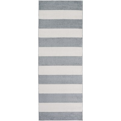 Greer Gray/Ivory Area Rug Rug Size: Runner 27 x 73