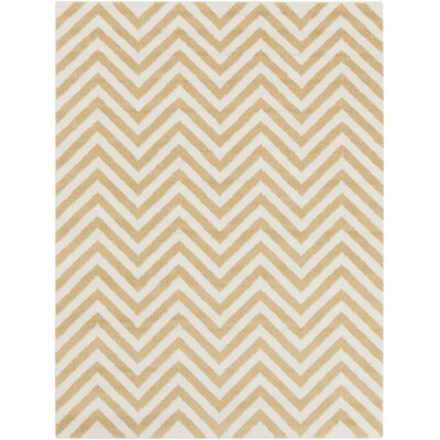 Greer Gold/Ivory Chevron Area Rug Rug Size: Rectangle 710 x 103