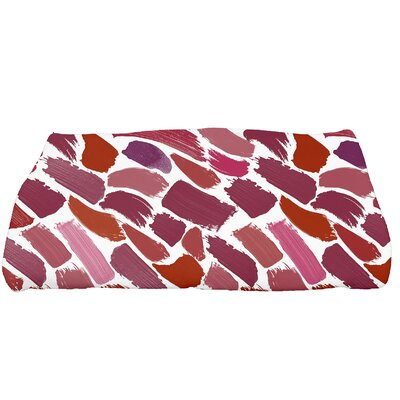 Jennifer Tufted Novelty Bath Towel Color: Cranberry