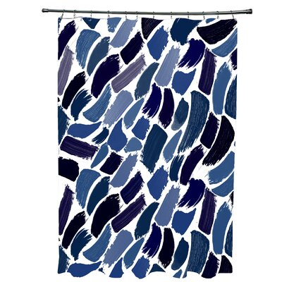 Goodlow Abstract Shower Curtain Color: Blue