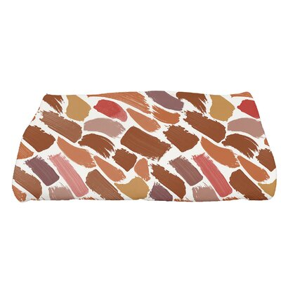 Jennifer Tufted Novelty Bath Towel Color: Orange