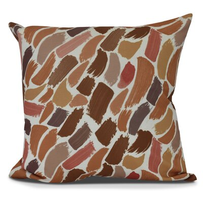 Bueche Abstract Throw Pillow Size: 16 H x 16 W, Color: Orange