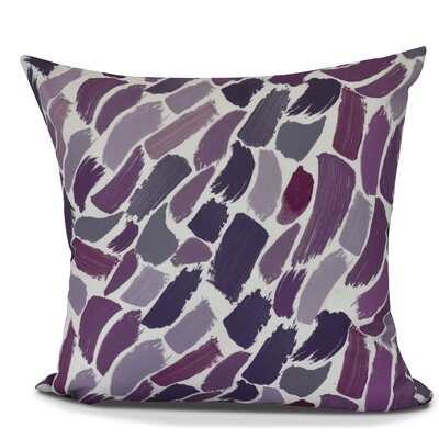 Bueche Abstract Throw Pillow Size: 16 H x 16 W, Color: Purple