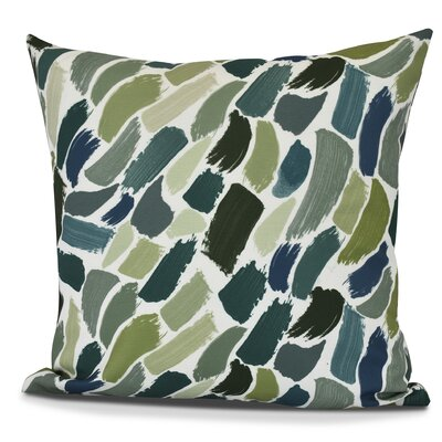 Bueche Abstract Throw Pillow Size: 18 H x 18 W, Color: Green