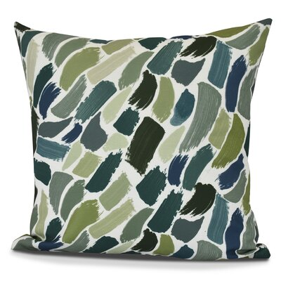 Jennifer Wenstry Abstract Outdoor Throw Pillow Color: Green, Size: 18 H x 18 W