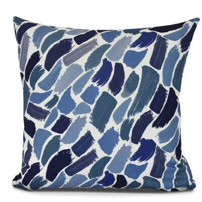 Bueche Abstract Throw Pillow Color: Blue, Size: 18 H x 18 W