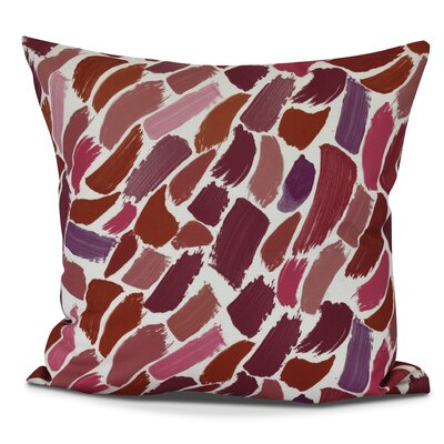 Jennifer Wenstry Abstract Outdoor Throw Pillow Size: 18 H x 18 W, Color: Cranberry