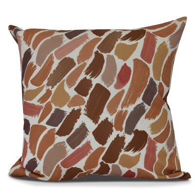 Jennifer Wenstry Abstract Outdoor Throw Pillow Size: 20 H x 20 W, Color: Orange